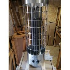 Электрокаменка ЭКМ 9 кВт Комфорт LUX (нержавеющая сталь) с встроенным пультом управления
